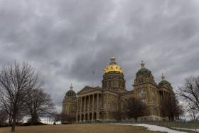Iowa's Capitol during the first month of the 2014 legislative session.