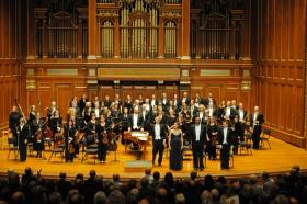 Boston Baroque, Martin Pearlman, and singers.