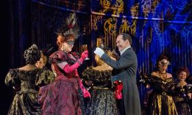 Susanna Phillips and Christopher Maltman in the new Met production of Johann Strauss, Jr.'s 'Die Fledermaus.'
