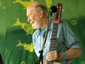 Pete Seeger at age 88 photographed on 6-16-07 at the Clearwater Festival 2007