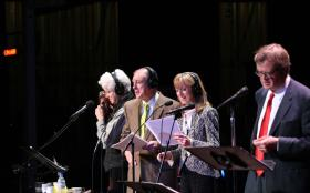 Garrison Keillor, Tim Russell, Sue Scott and Fred Newman