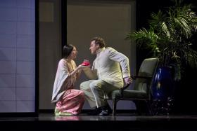 "Amanda Echalaz and Bryan Hymel in the Met's ""Madame Butterfly"""