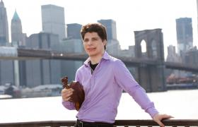 Violinist Augustin Hadelich in his new home city.