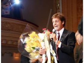 """Paul McCartney at Carnegie Hall for the U.S. premiere of his award-winning 2006 oratorio """"Ecce Cor Meum"""" (Behold My Heart)."""