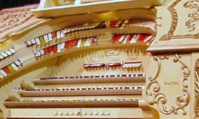 """The """"Mighty Wurlitzer"""" at the Paramount Theatre in Cedar Rapids, newly restored after extensive damage in the flood of 2008."""