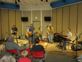 Des Moines band Brother Trucker performing in IPR's Studio One.