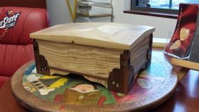 A prototype of the ISU keepsake box.