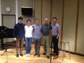 L-R: Jordan Dodson; Bridget Pasker; Michael Gilbertson; Barney Sherman; David Fung.