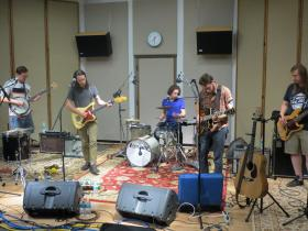 The River Monks perform in IPR's Studio One as part of the IPR 80/35 Showcase.
