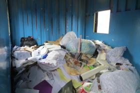Recycling drop-site at City Carton's Iowa City location