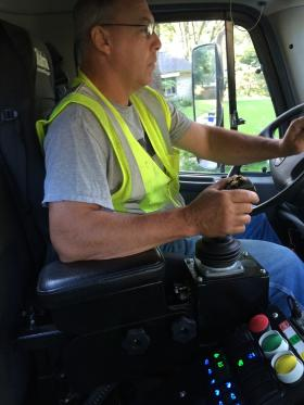 Tim Burns of Hills, Iowa, has been collecting trash for Iowa City for more than 20 years.