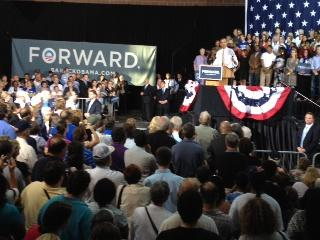 It was the president's third visit to Iowa this year, a swing state he carried in 2008. He told supporters 2012 will be an even more difficult battle.