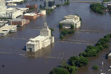 Waters rose to 31 feet in parts of the city