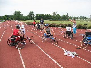 Wheelchair athletes prepare for track and field events