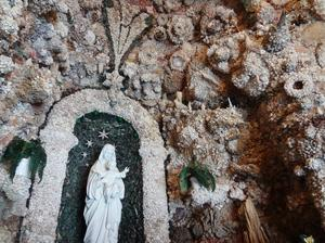 The grotto contains one of the world's largest collections of semi-precious stones.