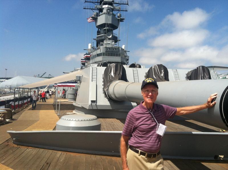 George Cavanaugh of Cedar Rapids served on the USS Iowa during the Korean War