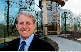Russell Wasendorf Sr. outside his now closed 18 million dollar office building in rural Cedar Falls