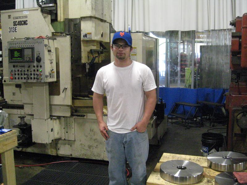 Adam Kester completed the manufacturing careers certificate program at Hawkeye Community College. He was hired by Power Engineering and Manufacturing in Waterloo.