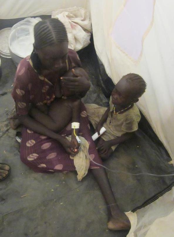 Dr. Koslow has seen a range of medical problems among the Sudanese refugees, especially malnutrition and dehydration.