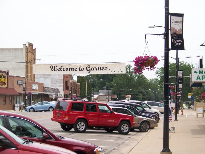Garner is a town of about 3,000 in northern Iowa.