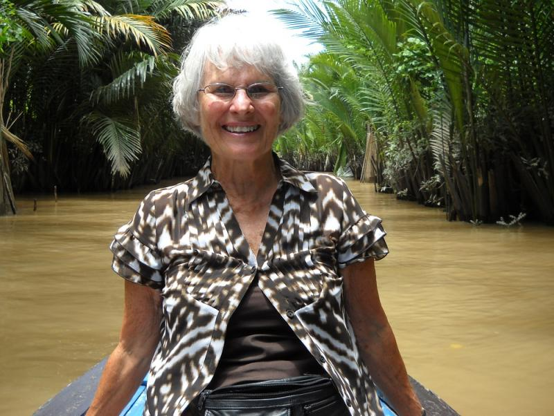When Jan Phillips was a baby, her parents said they knew by her laughter in response to a cow-driven buggy ride that she would be adventurous. Seventy years later, she's still proving them right. This is her last year on a trip to Asia.