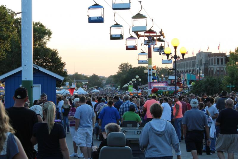 The Grand Concourse during the 2012 Iowa State Fair