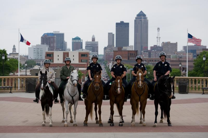 The Des Moines Police Department's Mounted Patrol is one of the few remaining in Iowa.