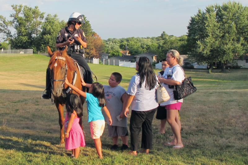 The Mounted Patrol draws plenty of fans, especially younger ones.
