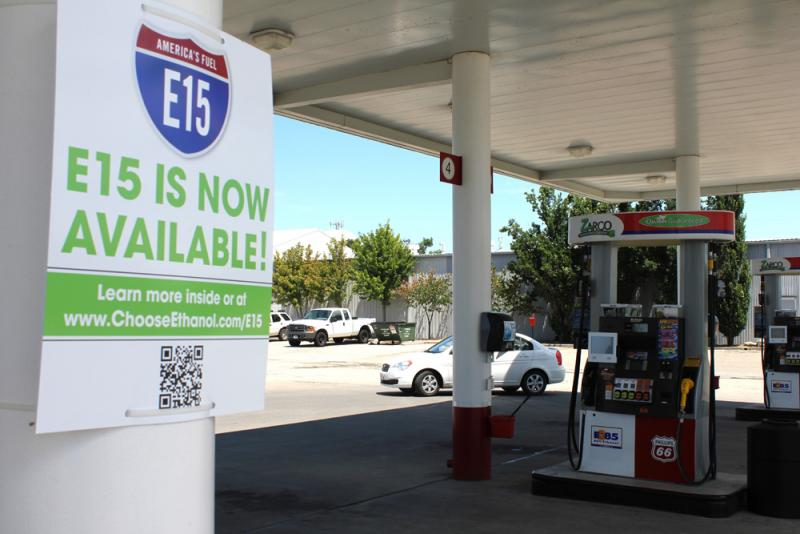 The Zarco 66 gas station in Lawrence, Kan., is the first in the country to offer E-15.