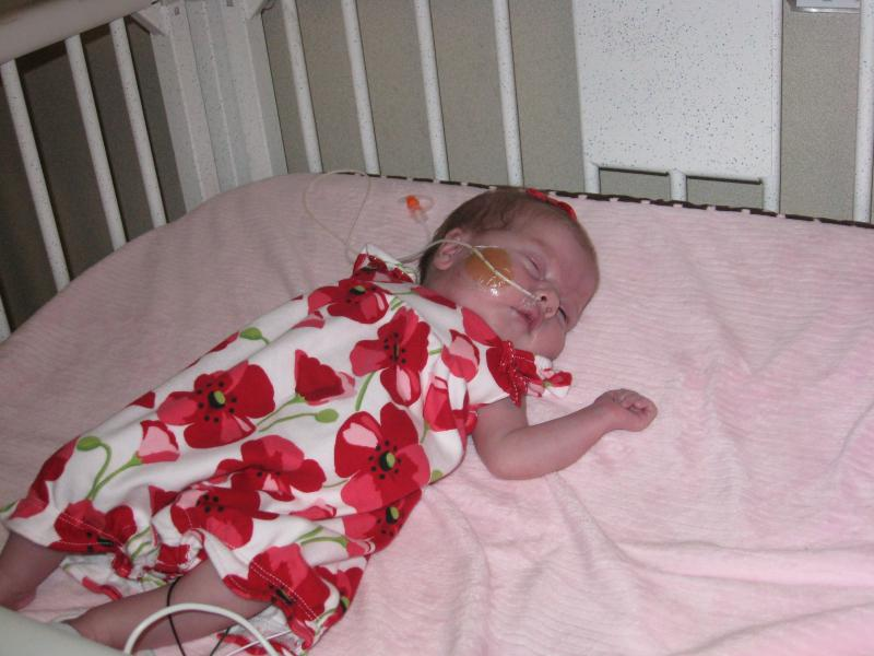 Ava was born May 8th, just minutes after she arrived she had the first of three surgeries she'll need by age 2.