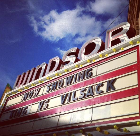 The Windsor Theater hosted the Vilsack/King debate.