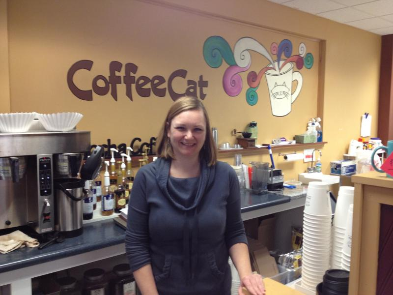Catherine Fields is the owner of Coffee Cat in Mason City. She says her coffee shop gets a little more traffic during campaign season, but nothing substantial.