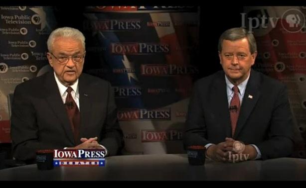 Leonard Boswell and Tom Latham debate on Iowa Public Television.