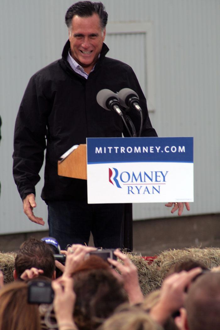 Republican Presidential Candidate Mitt Romney campaigned in Van Meter Iowa in northern Madison County on Tuesday.