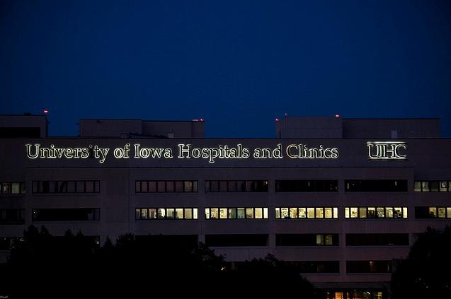 Univeristy of Iowa Hospitals and Clinics sign