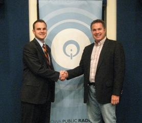Republican Ben Lange and Democrat Congressman Bruce Braley