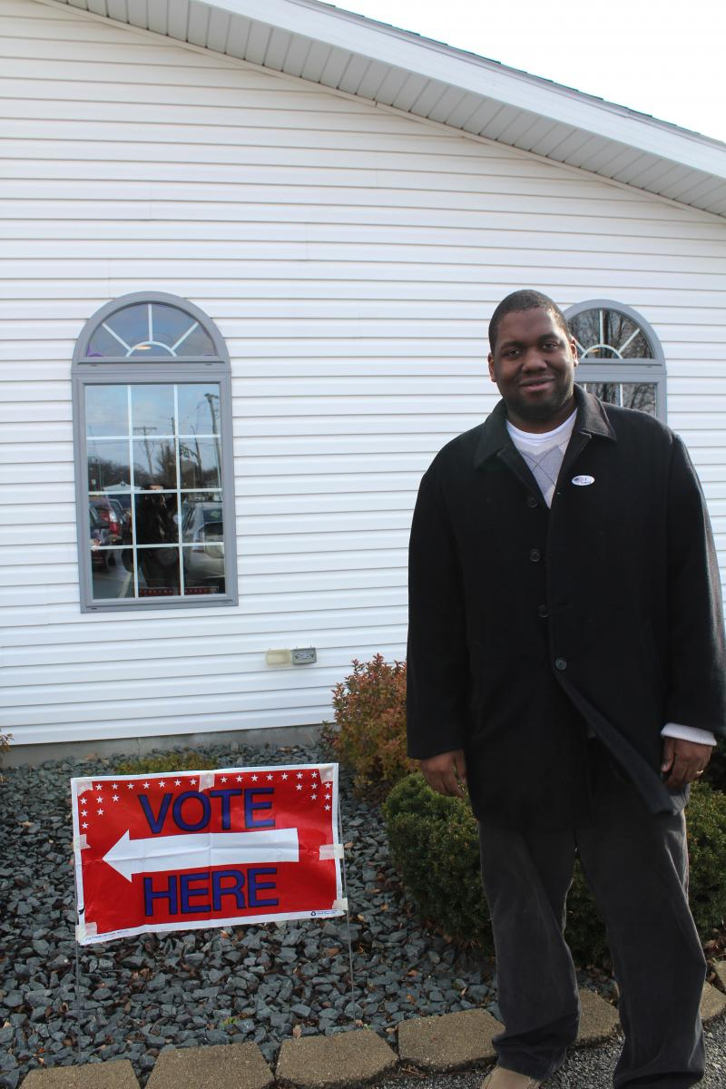 The Heartland Baptist Church in Ames is where Chris Johnson cast his ballot on Election Day.
