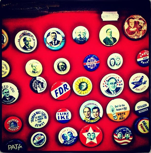 Vintage presidential buttons
