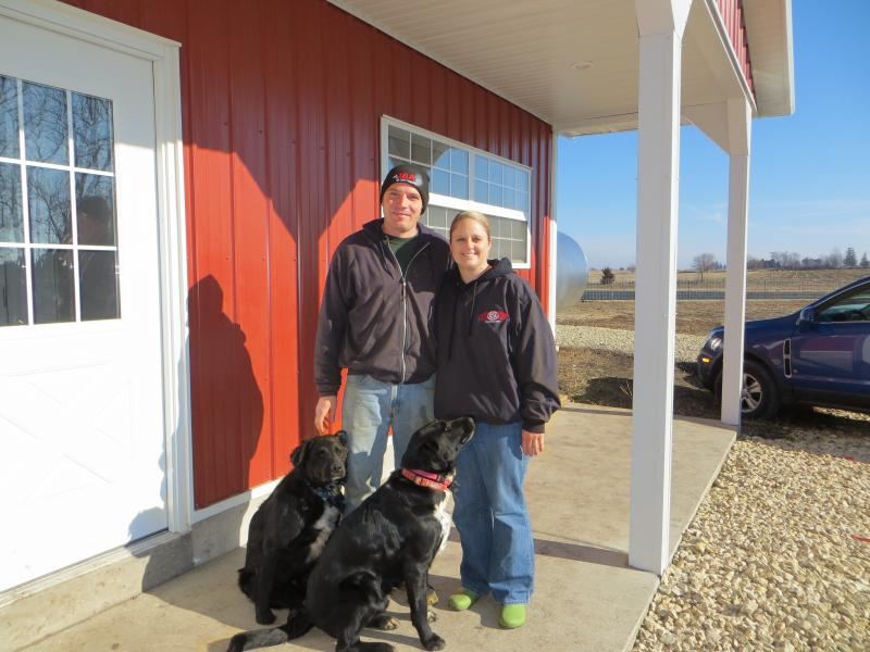 Kevin and Cherish Kueker at their new robo dairy