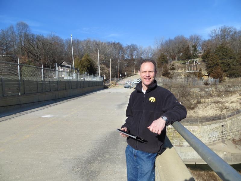 Steve Leonard leads the campaign to restore Lake Delhi.
