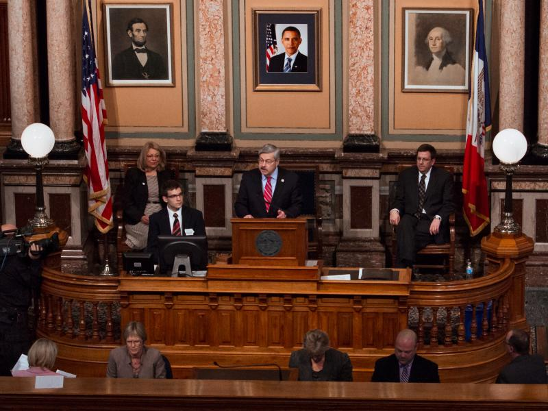 Governor Terry Branstad giving his Condition of the State address