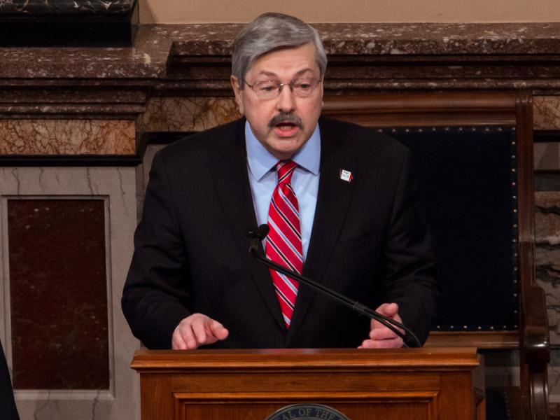 Governor Terry Branstad unveiles his 6.5 billion dollar budget while delivering his Condition of the State address.