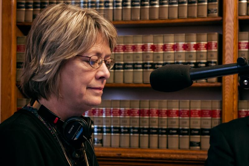 Iowa Public Radio's statehouse bureau chief Joyce Russell is one of the hosts for statehouse editions of River to River.  These programs originate from the Capitol's law library during the legislative session Mondays at noon on Iowa Public Radio news.