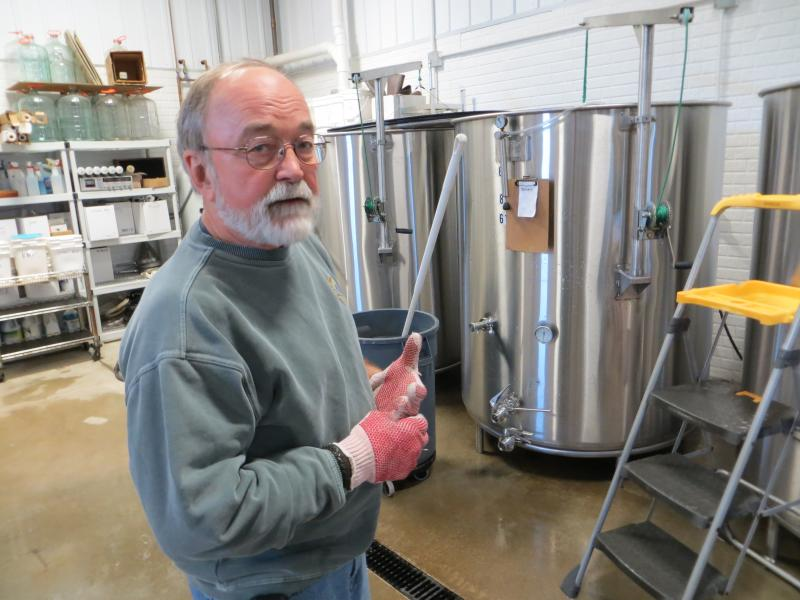 John Larson is a co-owner and winemaker at Snus Hill Winery.