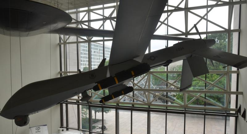 US military drone plane in the Smithsonian National Air & Space Museum.