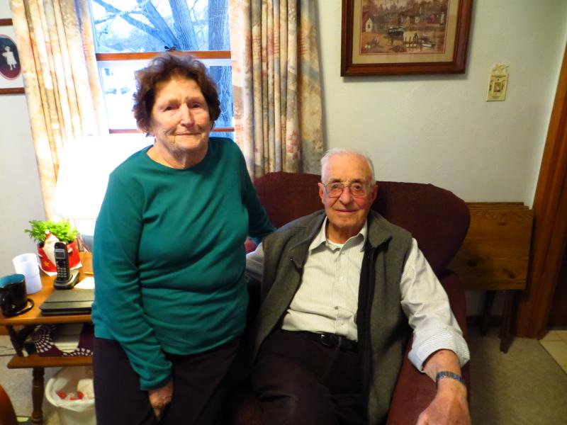 Norma and Don Locher, ages 89 and 92, live in Prairie du Chien, WIsconsin. Their house is across from a loading site where Pattison Sand Company transfers frac sand from trucks to rail.