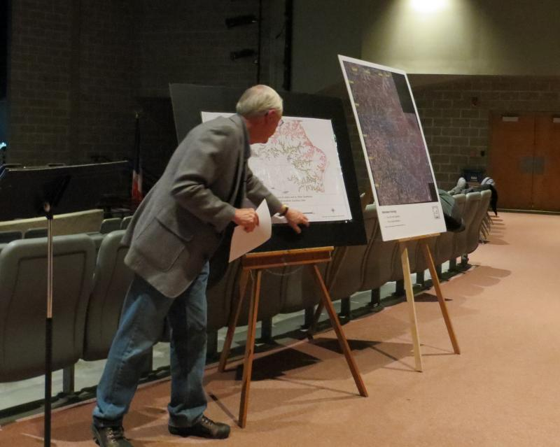Retired teacher Lyle Otte organized a public meeting at Decorah High School focused on frac sand mining. He'd like to see his county, Winneshiek, enact a moratorium on the practice similar to one just passed in neighboring Allamakee County.