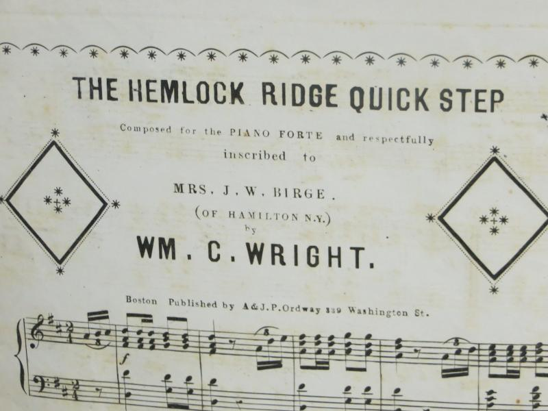 One of 39 William Wright compositions held at the state Historical Society in Iowa City