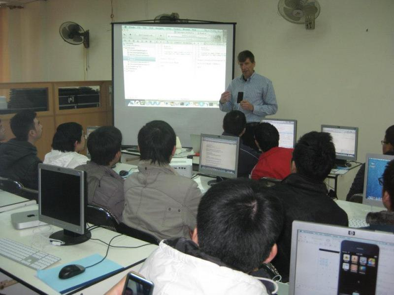Computer Science Professor, Jim Cremer, teaching in Vietnam