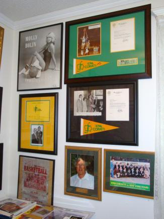 More Iowa Cornets memorabillia.  Collector Rich Cummins is looking for a home to display the items to the public.